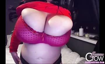 Leanne Crows monster boobs spill out of her bra