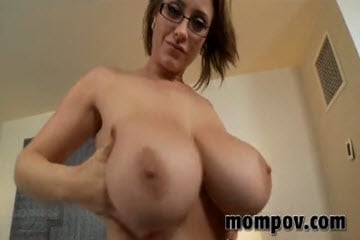 Mommy with massive titties stuffed with cock pov