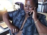 Black BBW mama loves to talk dirty on the phone
